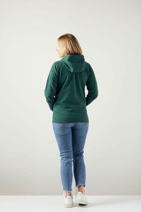 Damen Kitumba Zip-Hoode green stone