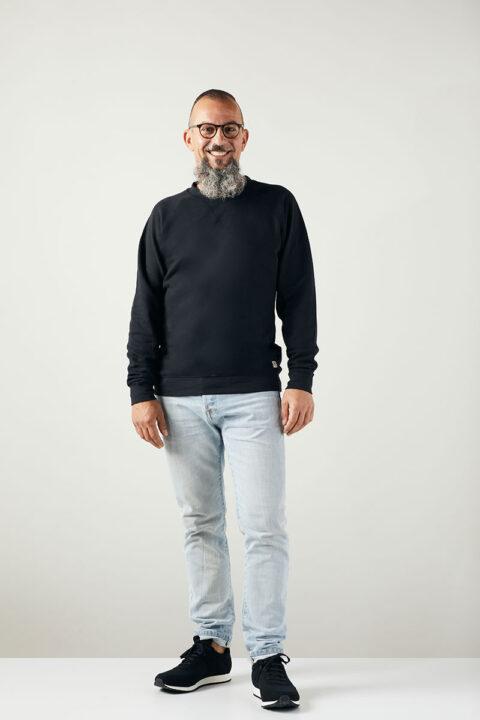 Men Sweater Basic black