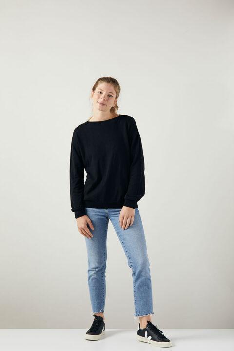 Damen Sweater black