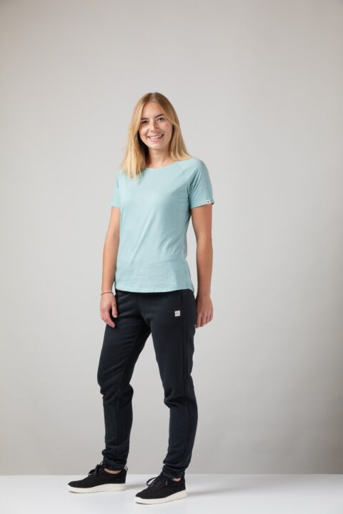 Women basic T-Shirt teal