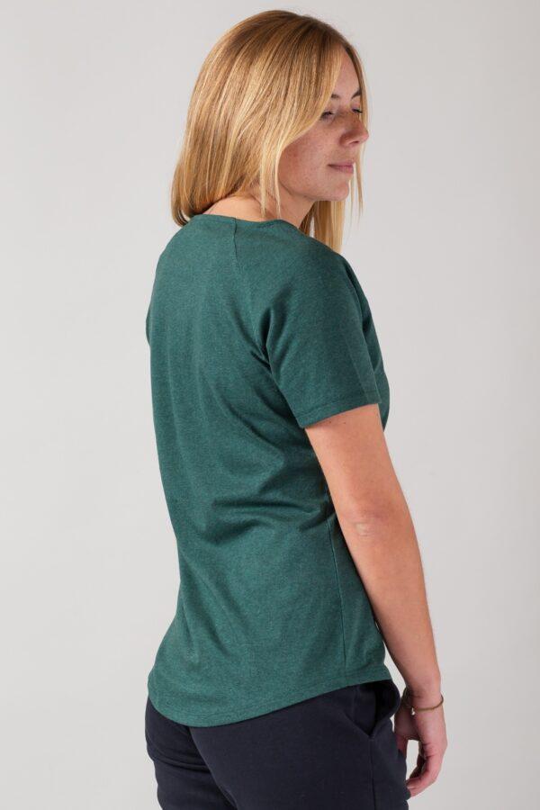 Women basic T-Shirt green stone