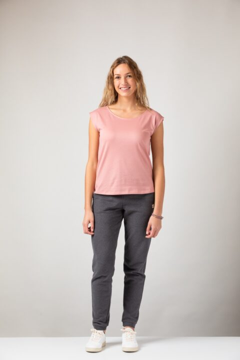 Women basic Two-Shirt old rose