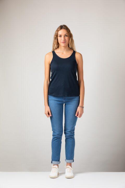 Women basic Tanktop blue