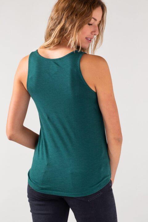 Women basic Tanktop green