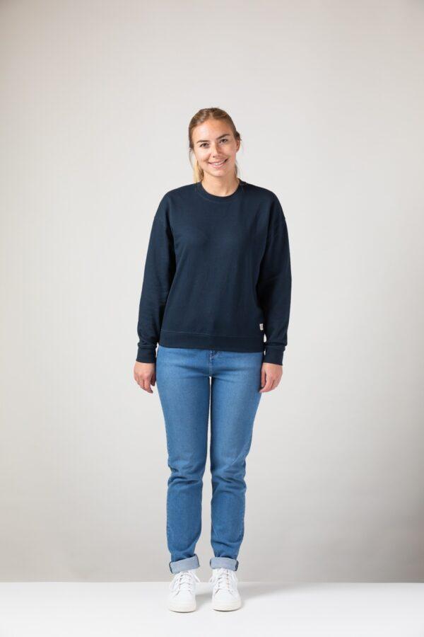 Women basic Sweater blue