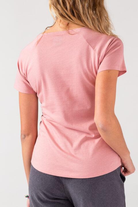 Women basic T-Shirt old rose