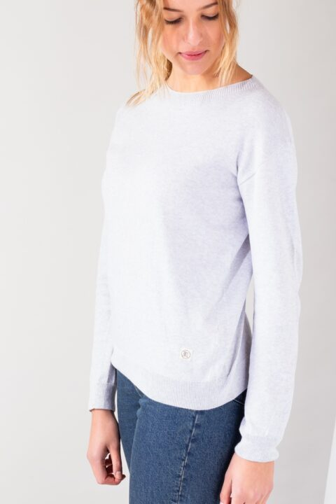 Women Sweater silver shine