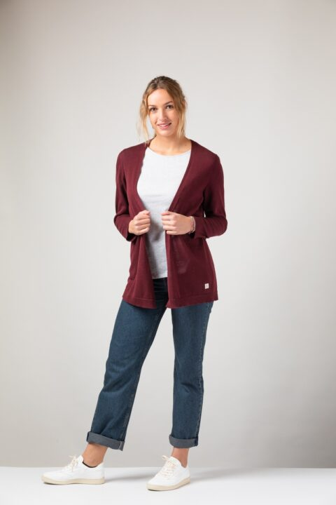 Women Cardigan bordeaux