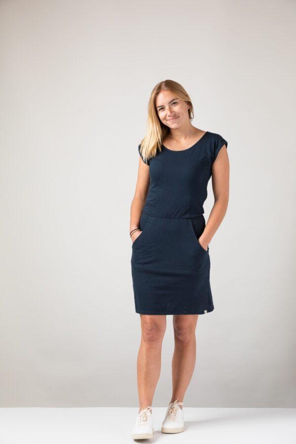Women basic Dress blue