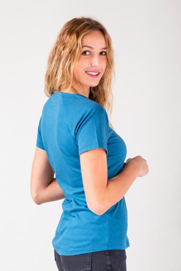 Women basic T-Shirt petrol
