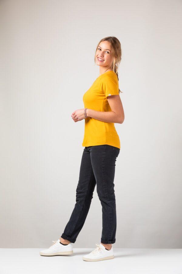 Women basic T-Shirt amber