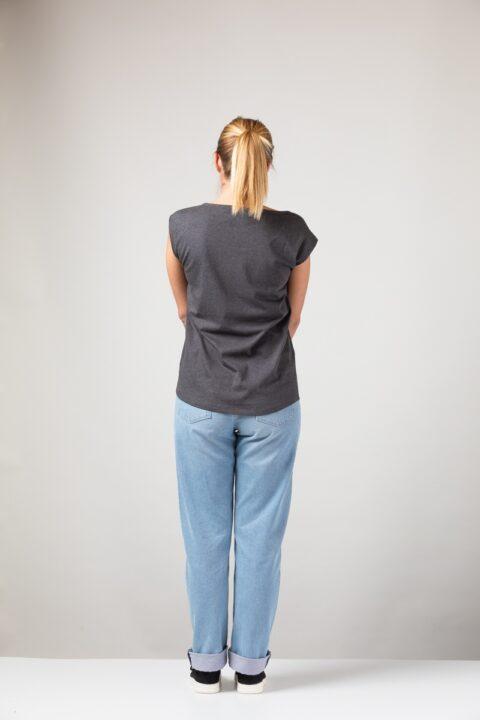 Women basic Two Shirt onyx
