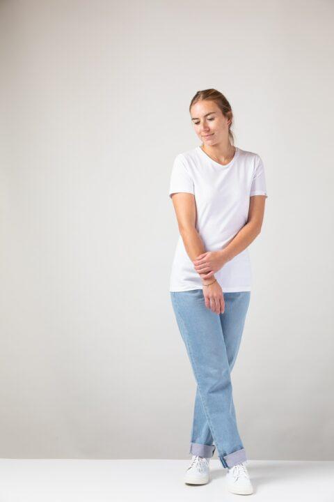 Women Slim T-Shirt white