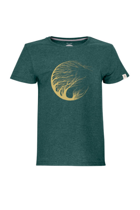 Kids Circle Tree T-Shirt green stone by Marisa Senn