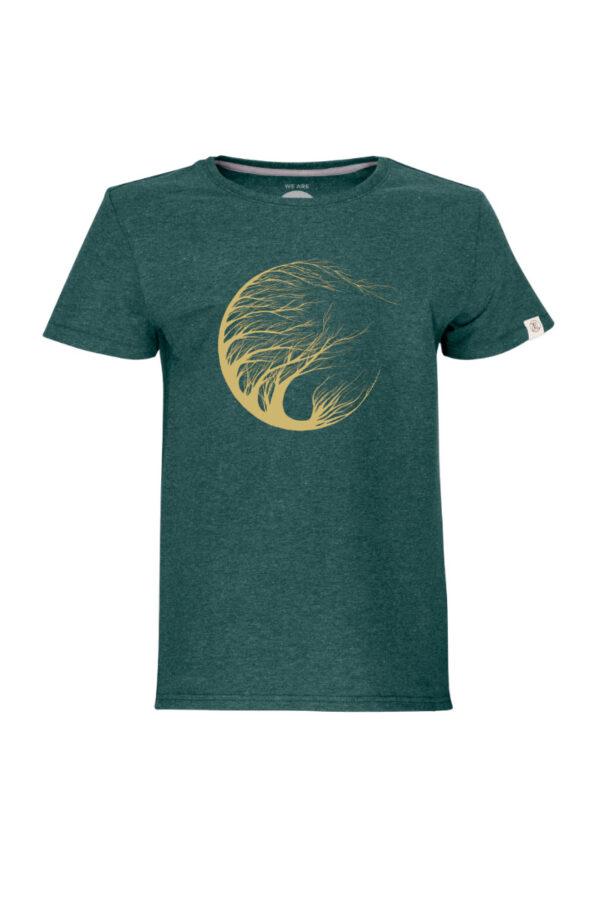 Kids Circle Tree T-Shirt green stone by Marisa Senn