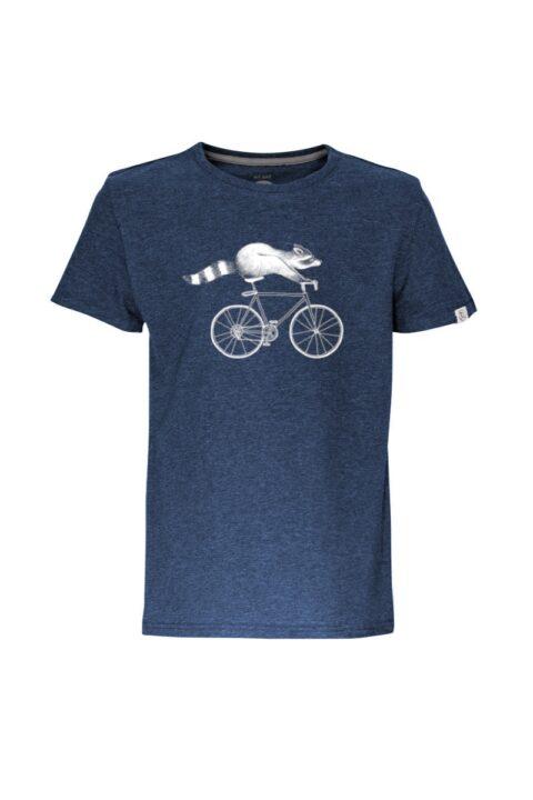 Kids T-Shirt Raccoon blue stone
