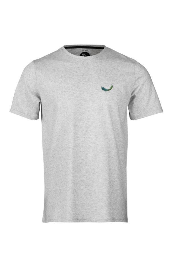 Men T-Shirt Dabu Feather silver shine