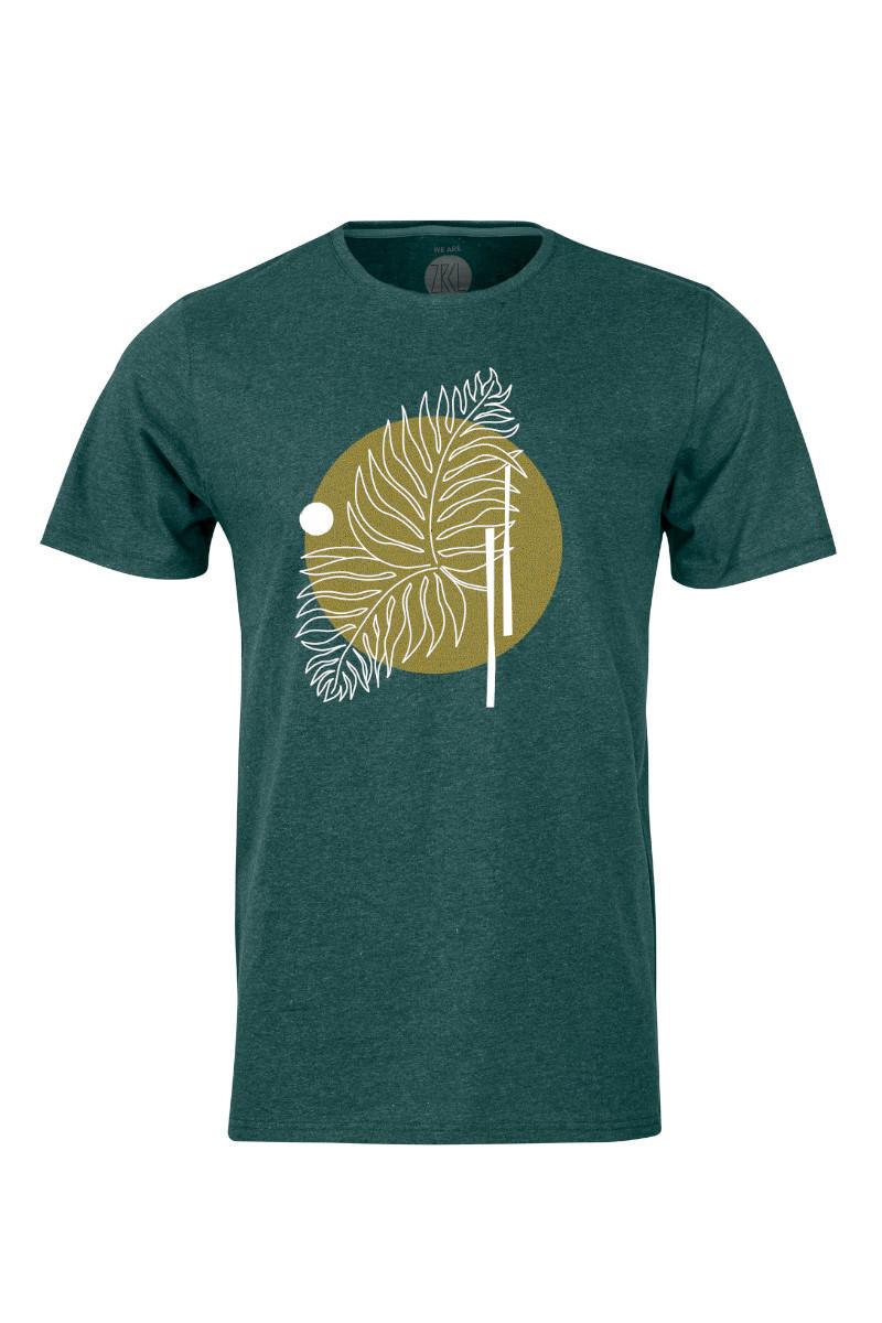 Men T-Shirt Farn green stone