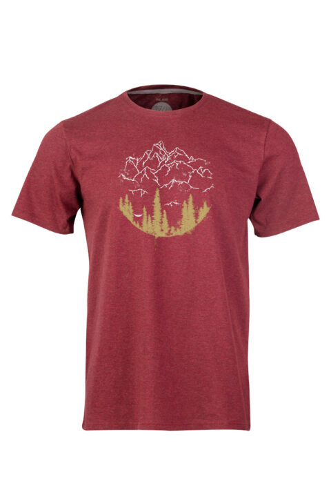 Men T-Shirt Hammock dark wine