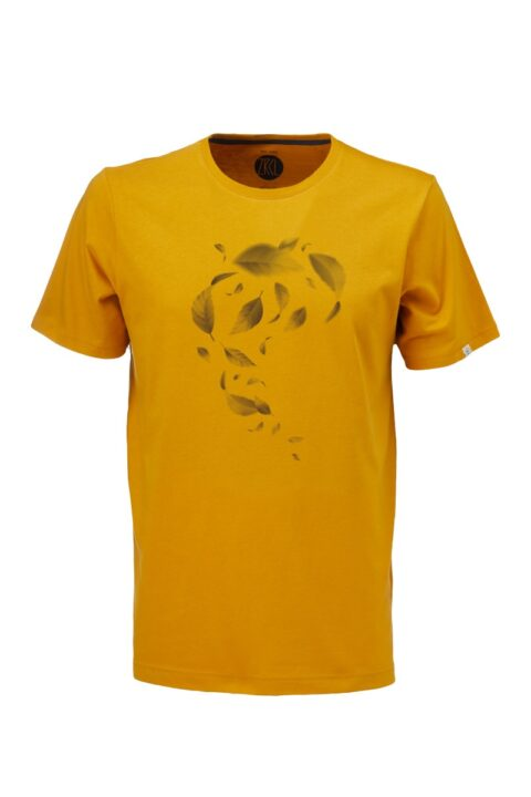 Men T-Shirt Leaves amber
