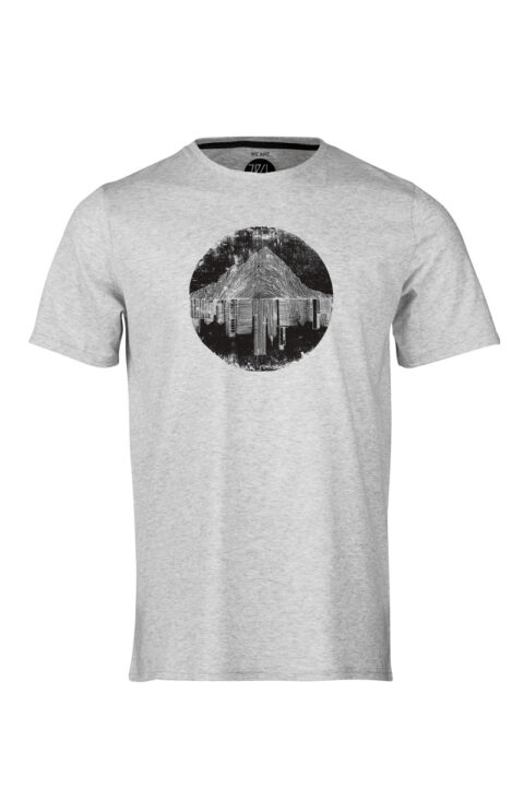 ZRCL mountain vs city T-Shirt dark wine matt allen