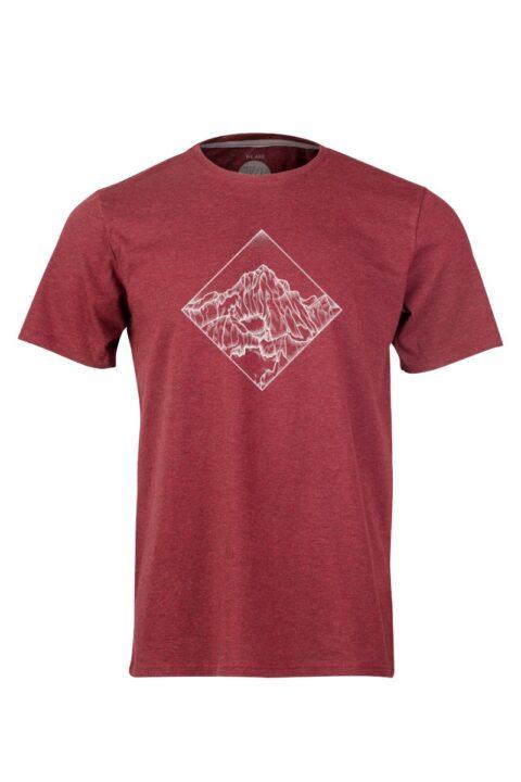 Men T-Shirt POW dark wine