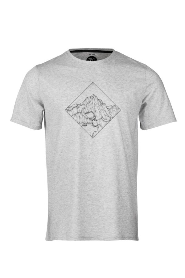 Men T-Shirt POW silver shine