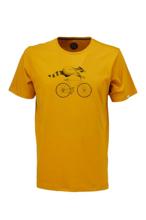 Men T-Shirt Raccoon amber