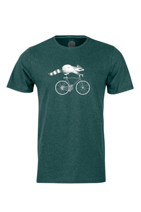 Herren T-Shirt Raccoon von Sahra von Rickenbach