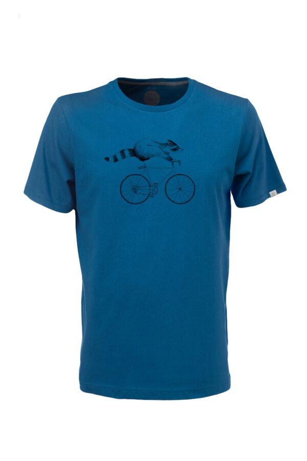 Men T-Shirt Raccoon petrol