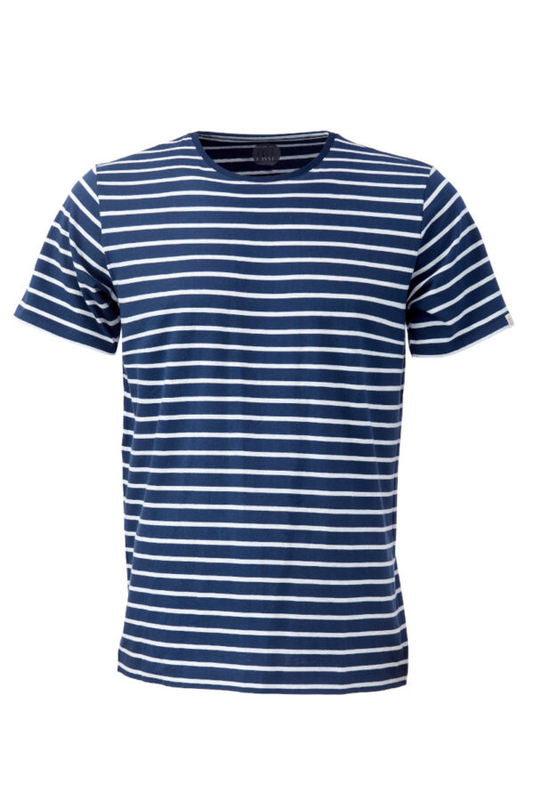 Men T-Shirt ringel blue