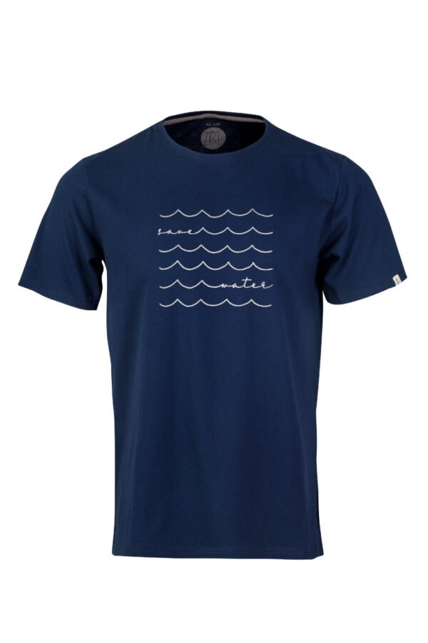 Men T-Shirt Save Water blue