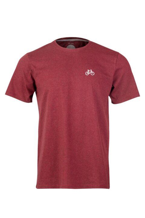 Men T-Shirt VELO dark wine