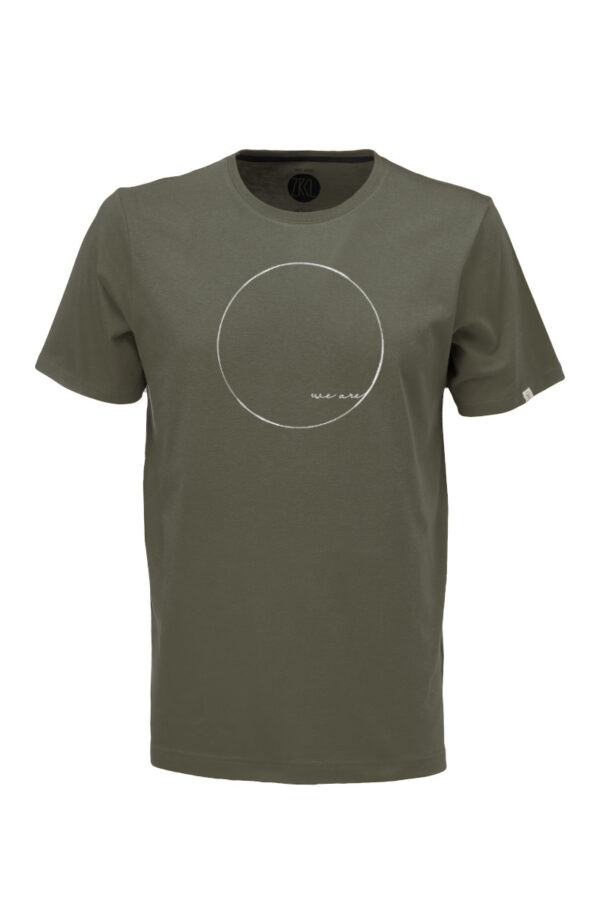 Men T-Shirt WE ARE olive