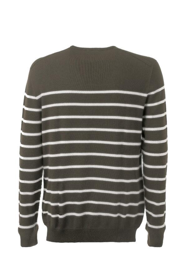 Men Ringel Sweater olive-silver