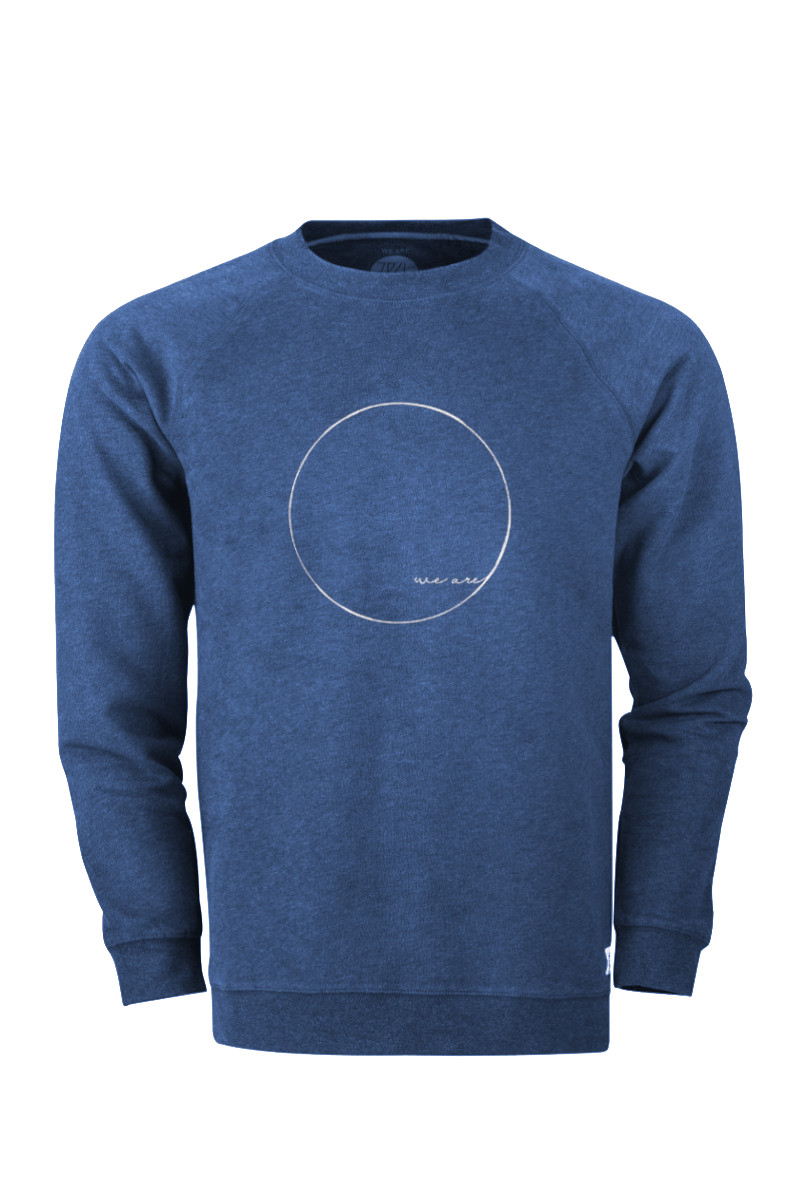 Men WE ARE Sweater blue stone