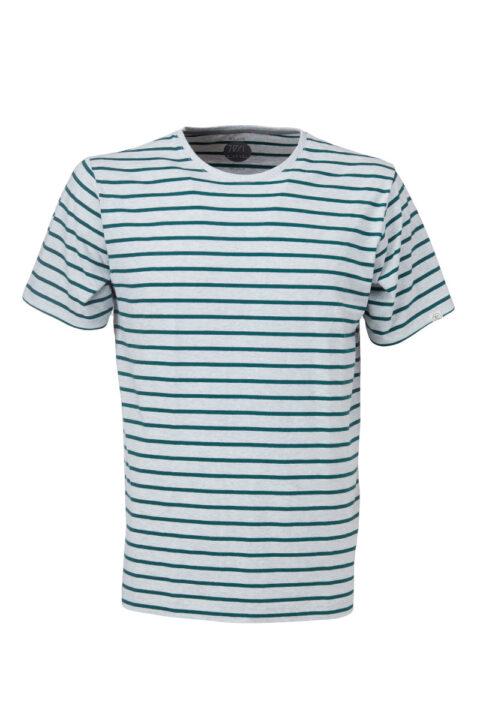 Men Ringel T-Shirt silver shine