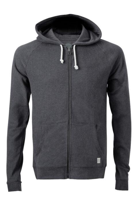 Men basic Zip-Hoodie onyx