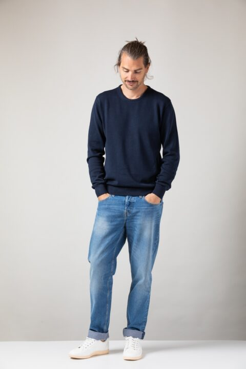 Men basic Sweater blue