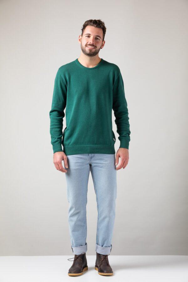 Men basic Sweater green