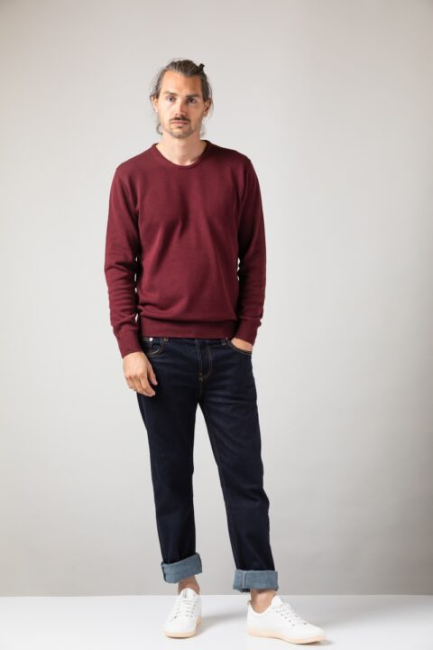 Men basic Sweater bordeaux