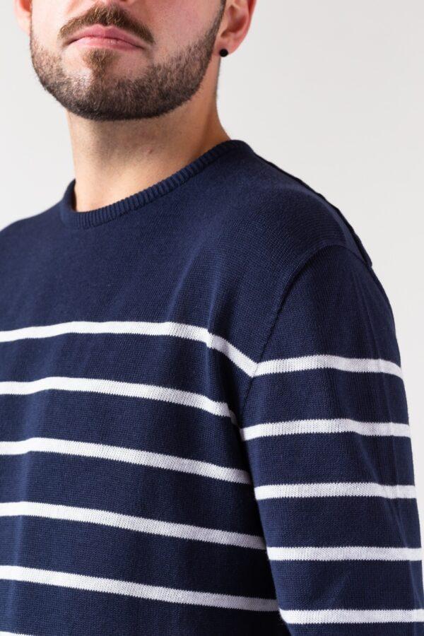 Men Ringel Sweater blue/silver