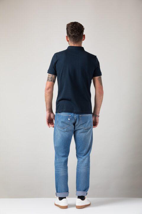 Men basic Polo blue