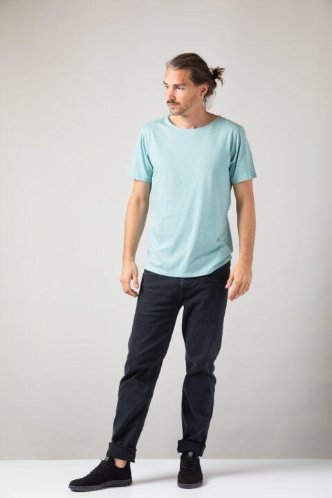 Men loose T-Shirt teal