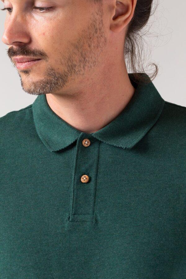 Men basic Polo green stone