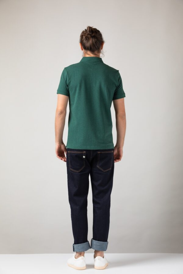 Men basic Polo green stone