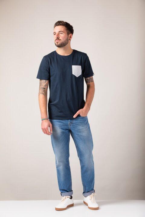 Men Pocket T-Shirt blue