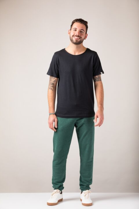 Men loose T-Shirt black