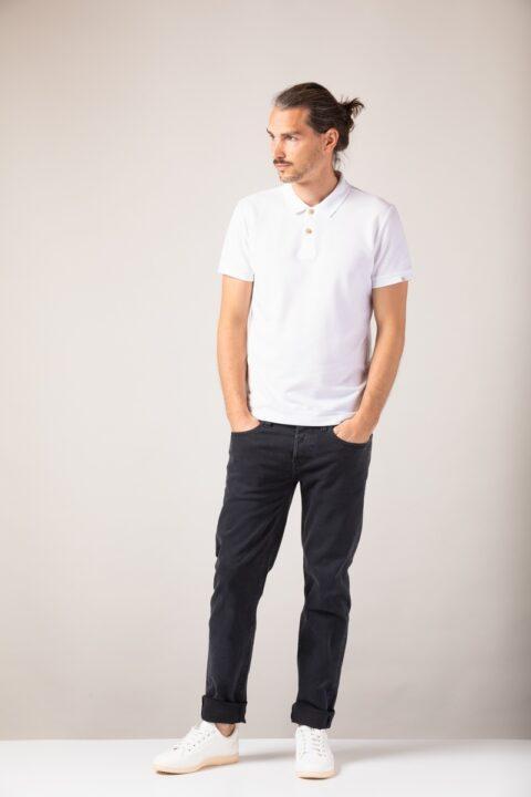 Men basic Polo white