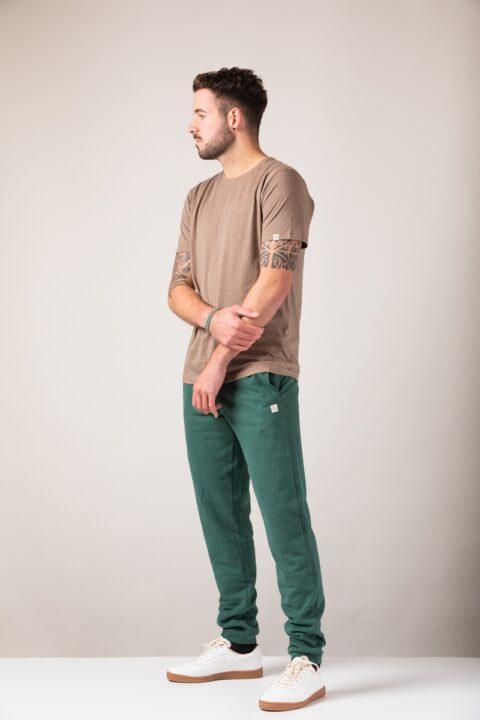 Men basic T-Shirt brown mel.